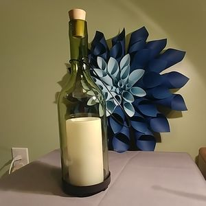 Wine Botle Luminary with Cork